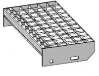 Stupeň schodišťový pozinkovaný dle DIN24531, provedení SP 340