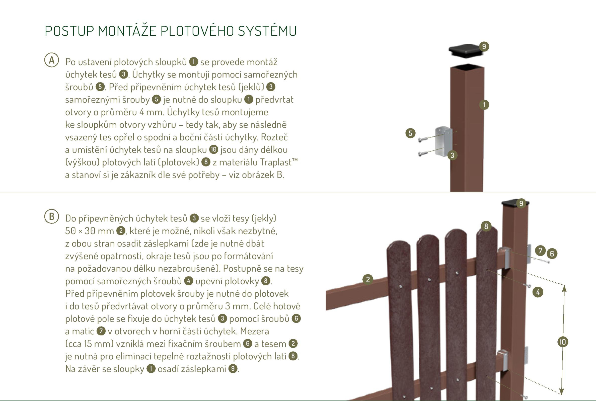 Montáž plastových plotovek