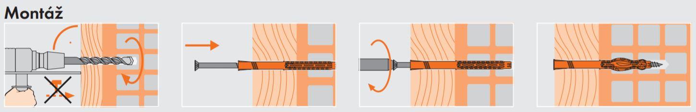 Montáž - rámová hmoždinka