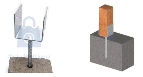 Kotevní patky do betonu