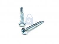 Šroub TEX DIN 7504N pozinkovaný, PH drážka, samovrtný do kovu s půlkulatou hlavou