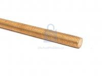 Tyč závitová, DIN 975, mosaz