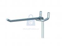 Hák jednoduchý pro euro-děrované stěny, 3,5 mm x 60 mm, pro rozteč děrování 15 mm