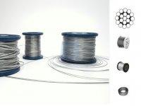 Lanko ocelové 1-pramenné, DIN 3053, 19 drátů