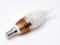 LED žárovka svíčka, barva světla teplá bílá, závit E14, svítivost 300 lumenů