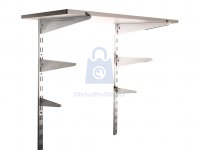 Regálový systém dílna (dvojitá nosná konzola, dvojitý držák police, spojka)