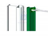 Sloupek plotový ATLANTIS, pro montáž drátěných panelů, ZN+PVC