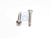 Šroub TEX nerez A2 DIN 7504N, samovrtný s půlkulatou hlavou