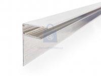 Profil F okrajový hliníkový, GUTTAPROFIL ALU F
