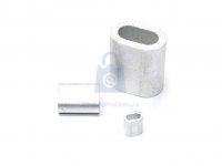 Objímka lisovací pro lano DIN 3093, hliníková (Al)