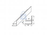 Profil F okrajový PVC, LanitPlast