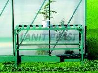 Regál AL zelený, jednopolicový LanitGarden, LanitPlast