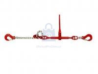 Řetěz kotevní s ráčnou jednodílný s háky, komaxitovaný