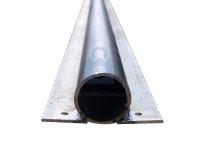 Sloupek plotový kulatý s přivařenou pásovinou pro uchycení plotových latí, bez povrchové úpravy