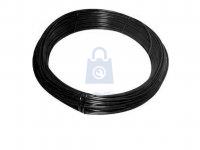 Drát napínací, pozinkovaný a poplastovaný, černá barva RAL9005