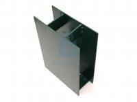 Držák podhrabové desky průběžný, hranatý, zelený