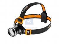 Svítilna čelovka 400 Lm Zoom,stroboskop, CREE R5, NEO tools