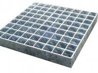 Rošt podlahový lisovaný, atypický, zinkovaný, oko 33x33