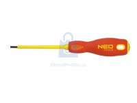 Šroubovák plochý elektrotechnický, NEO tools