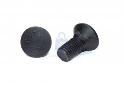 Šroub pluhový se čtyřhranem do kovu, DIN 608-8.8., bez úpravy