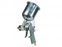 Pistole stříkací, pneumatická, kovová vrchní nádoba, TOPEX