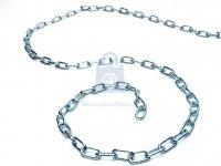 Řetěz polodlouhý článek plochý, DIN 5685A, pozinkovaný, nezkoušený