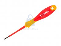 Šroubovák plochý elektrikářský do 1000 V, Topex