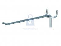 Hák jednoduchý pro euro-děrované stěny, pro rozteč děrování 15 mm