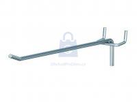 Hák jednoduchý pro euro-děrované stěny, pro rozteč děrování 25 mm