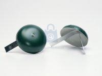 Klobouček na sloupky, zelený, s perem