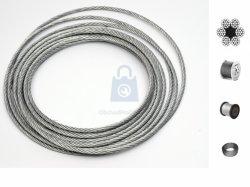 Lano ocelové šestipramenné, zinkované DIN 3060, 6x19dr.+FC
