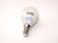 LED žárovka, závit E14, malá baňka, 7W