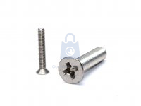 Šroub do kovu se zápustnou hlavou a křížovou drážkou, DIN 965, nerez A2