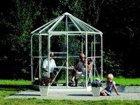 Pavilon zahradní HERA, bezpečnostní sklo 3 mm, konstrukce elox hliník