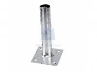Patka s deskou kotevní, pro upevnění plotového sloupku s prolisem