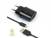Set síťové nabíječky FIXED s USB výstupem a USB/micro USB kabelu
