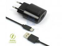Set síťové nabíječky FIXED s USB výstupem a USB/USB-C kabelu