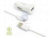 Set autonabíječky FIXED s USB výstupem a USB/micro USB kabelu