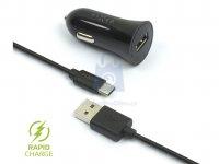 Set autonabíječky FIXED s USB výstupem a USB/USB-C kabelu