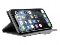 Pouzdro typu kniha Cellularline Elemento Dark Stone pro Apple iPhone