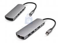 Hliníkový FIXED HUB s rozhraním USB-C pro notebooky a tablety