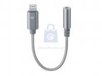 Extra odolný adaptér Cellularline Music Enabler z konektoru Lightning na 3,5 mm jack, MFI certifikace