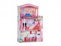 Domeček dětský pro panenky typu Barbie + 7ks nábytku