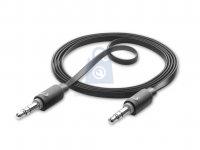 Audio kabel CELLULARLINE AUX AUDIO, AQL® certifikace, plochý, 2 x 3,5mm jack