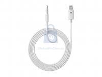 Audio kabel Cellularline Aux Music Cable, konektory Ligtning + 3,5 mm jack, MFI certifikace
