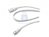 Plochý USB datový kabel CellularLine s konektorem microUSB