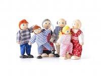 Panenky dřevěné do domečku