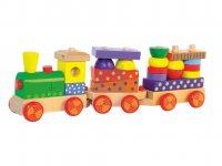 Skládací vlak s potiskem, světlem a zvukem