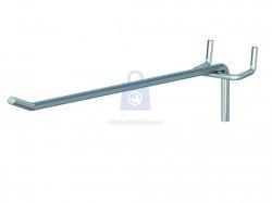 Hák jednoduchý pro euro-děrované stěny, 4,8 mm x 200 mm, pro rozteč děrování 30 mm