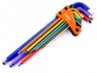 Sada imbusových klíčů s kuličkou, barevné, NEO tools